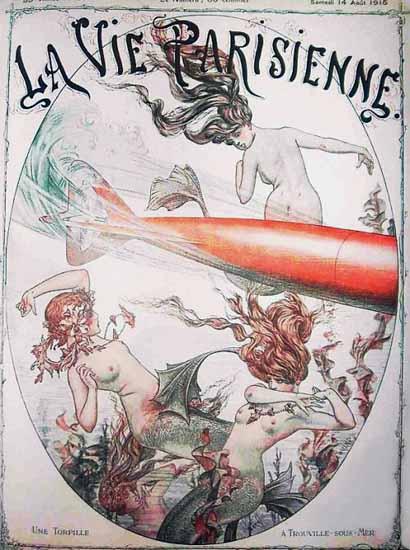 La Vie Parisienne 1915 Une Torpille Cheri Herouard | La Vie Parisienne Erotic Magazine Covers 1910-1939
