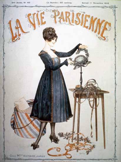 La Vie Parisienne 1916 Chez Mademoiselle Victoire Cheri Herouard   La Vie Parisienne Erotic Magazine Covers 1910-1939