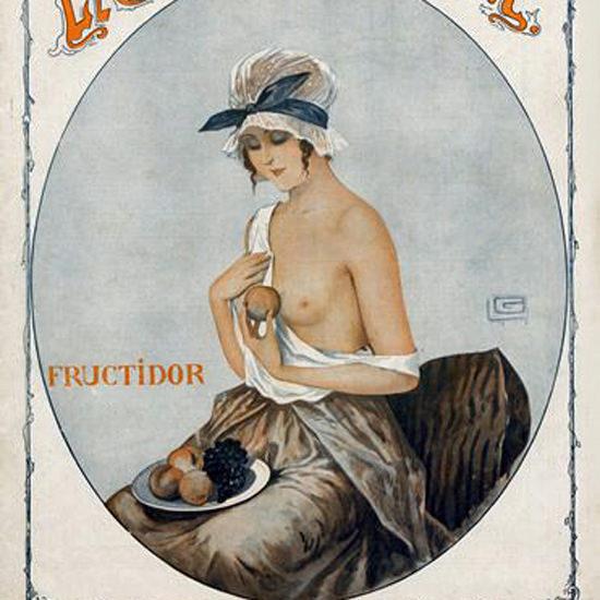 La Vie Parisienne 1916 Fructidor Georges Leonnec crop | Best of Vintage Cover Art 1900-1970