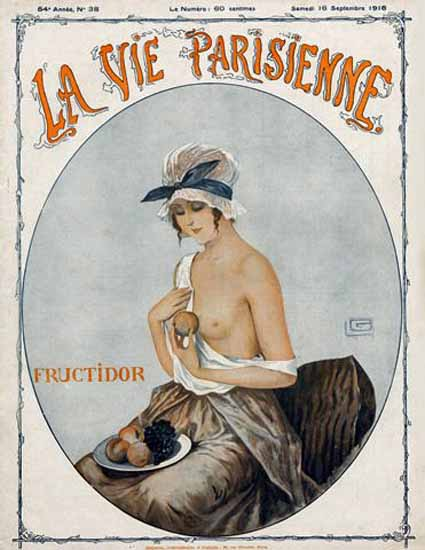 La Vie Parisienne 1916 Fructidor Sex Appeal | Sex Appeal Vintage Ads and Covers 1891-1970