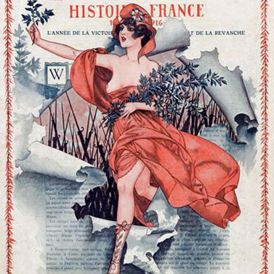 La Vie Parisienne 1916 Histoire France Cheri Herouard crop   Best of Vintage Cover Art 1900-1970