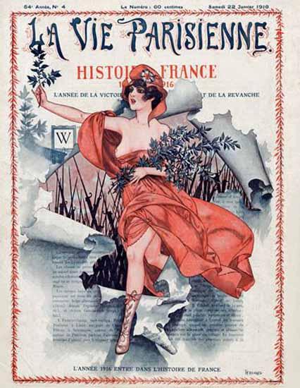 La Vie Parisienne 1916 Histoire France Cheri Herouard | La Vie Parisienne Erotic Magazine Covers 1910-1939