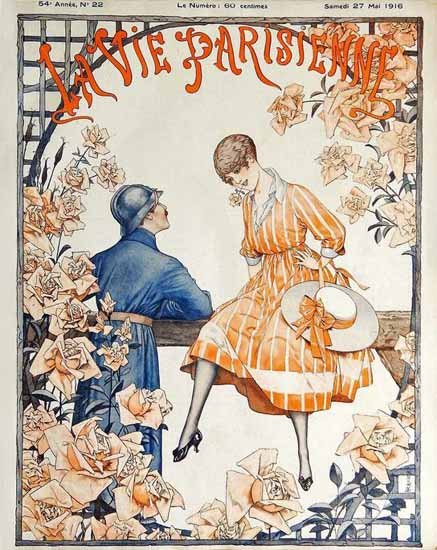 La Vie Parisienne 1916 L Esperance Cheri Herouard | La Vie Parisienne Erotic Magazine Covers 1910-1939