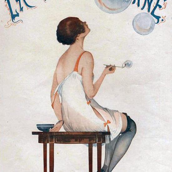 La Vie Parisienne 1916 L Image Fugitive Georges Leonnec crop   Best of Vintage Cover Art 1900-1970