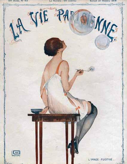 La Vie Parisienne 1916 L Image Fugitive Georges Leonnec   La Vie Parisienne Erotic Magazine Covers 1910-1939