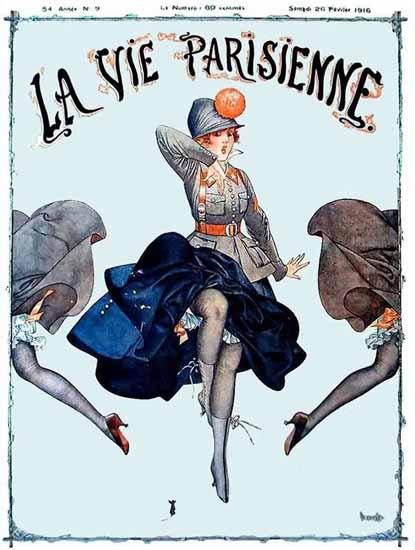 La Vie Parisienne 1916 La Souris Cheri Herouard   La Vie Parisienne Erotic Magazine Covers 1910-1939
