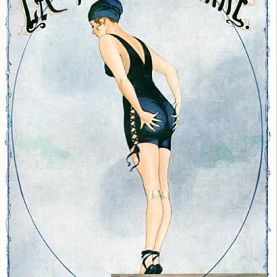 La Vie Parisienne 1916 Le Courage A Deux Mains Georges Leonnec crop | Best of Vintage Cover Art 1900-1970