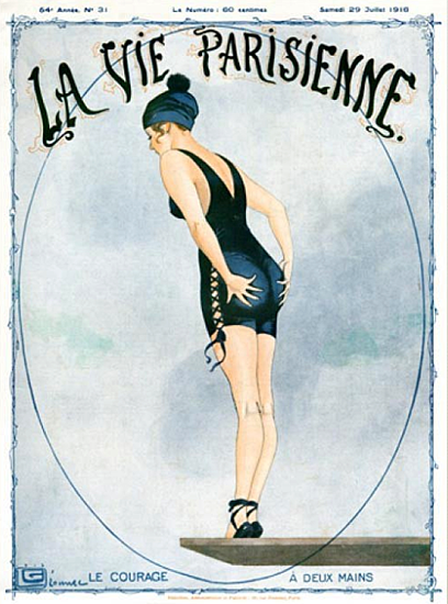 La Vie Parisienne 1916 Le Courage A Deux Mains Sex Appeal | Sex Appeal Vintage Ads and Covers 1891-1970