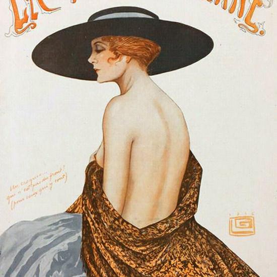 La Vie Parisienne 1916 Le Dos Nu Georges Leonnec crop | Best of Vintage Cover Art 1900-1970