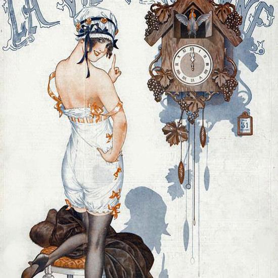 La Vie Parisienne 1916 Le Nouvel An Cheri Herouard crop   Best of Vintage Cover Art 1900-1970