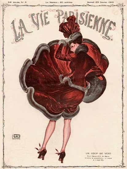 La Vie Parisienne 1916 Une Coup De Vent Sex Appeal | Sex Appeal Vintage Ads and Covers 1891-1970