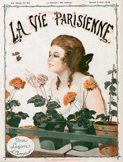 La Vie Parisienne 1916 Une Lecon D Amour Georges Leonnec | La Vie Parisienne Erotic Magazine Covers 1910-1939