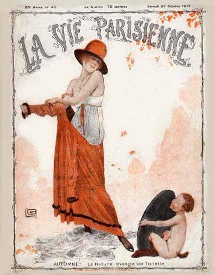 La Vie Parisienne 1917 Automne Georges Leonnec | La Vie Parisienne Erotic Magazine Covers 1910-1939