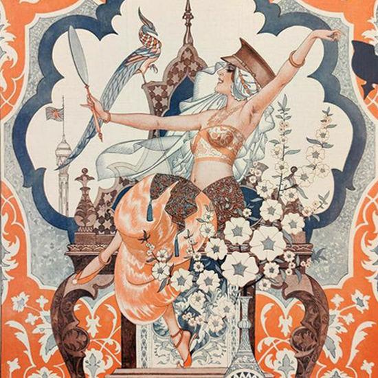 La Vie Parisienne 1917 Bagdad Cheri Herouard crop | Best of Vintage Cover Art 1900-1970