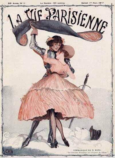 La Vie Parisienne 1917 Communique Georges Leonnec | La Vie Parisienne Erotic Magazine Covers 1910-1939