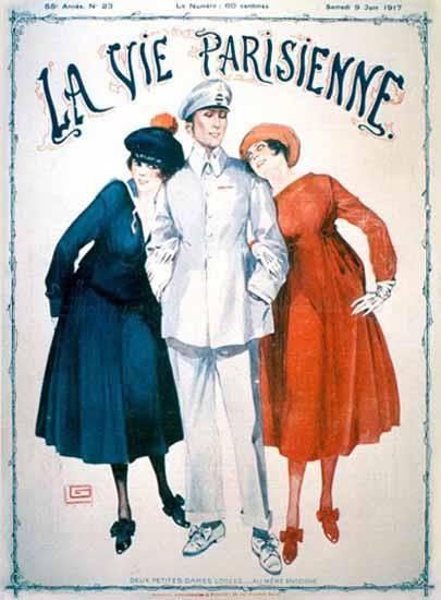 La Vie Parisienne 1917 Deux Petites Dames Sex Appeal | Sex Appeal Vintage Ads and Covers 1891-1970