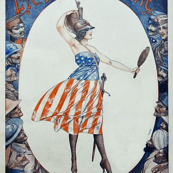 La Vie Parisienne 1917 Etoile De La Guerre Cheri Herouard crop | Best of Vintage Cover Art 1900-1970