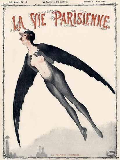 La Vie Parisienne 1917 Hirondelle Georges Leonnec | La Vie Parisienne Erotic Magazine Covers 1910-1939