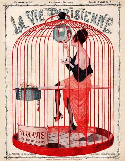 La Vie Parisienne 1917 L Amour Est Un Oiseau Volage Georges Leonnec | La Vie Parisienne Erotic Magazine Covers 1910-1939