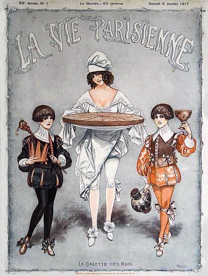 La Vie Parisienne 1917 La Galette Des Rois Cheri Herouard | La Vie Parisienne Erotic Magazine Covers 1910-1939