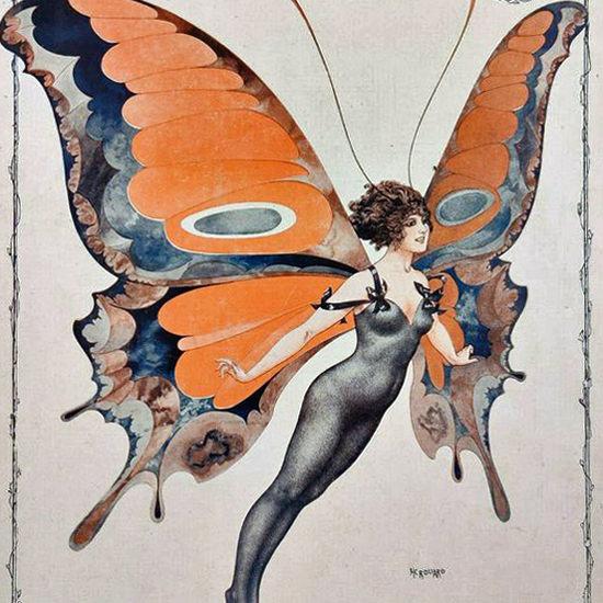 La Vie Parisienne 1917 La Messagere De L Ete Cheri Herouard crop | Best of Vintage Cover Art 1900-1970