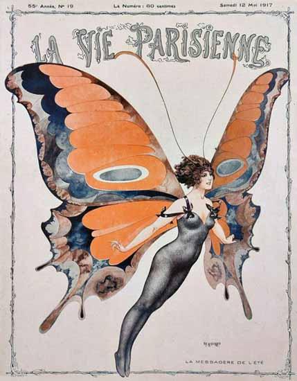 La Vie Parisienne 1917 La Messagere De L Ete Sex Appeal | Sex Appeal Vintage Ads and Covers 1891-1970