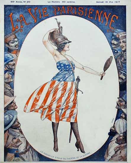 La Vie Parisienne 1917 La Nouvelle Etoile De La Guerre Cheri Herouard | La Vie Parisienne Erotic Magazine Covers 1910-1939