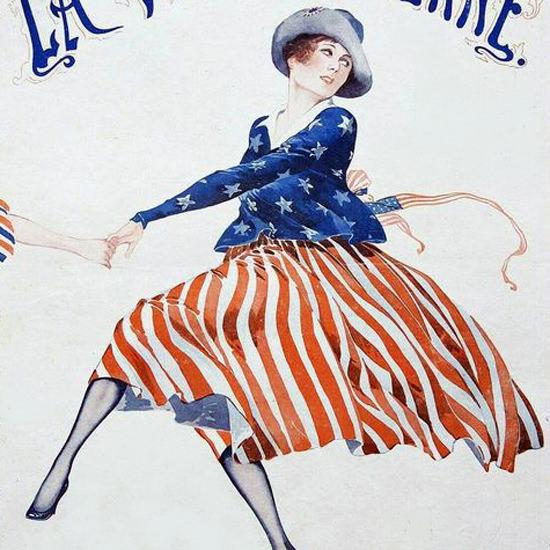 La Vie Parisienne 1917 La Ronde Des Allies Georges Leonnec crop   Best of Vintage Cover Art 1900-1970