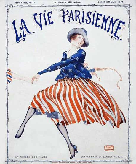 La Vie Parisienne 1917 La Ronde Des Allies Georges Leonnec | La Vie Parisienne Erotic Magazine Covers 1910-1939