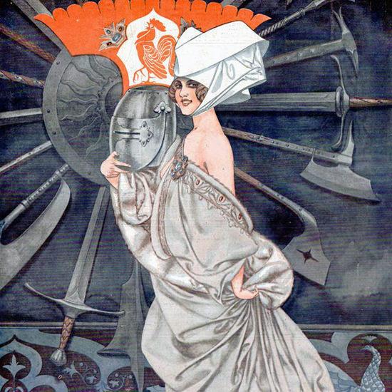 La Vie Parisienne 1917 Le Casque D Un Poilu De 1417 Cheri Herouard crop | Best of Vintage Cover Art 1900-1970