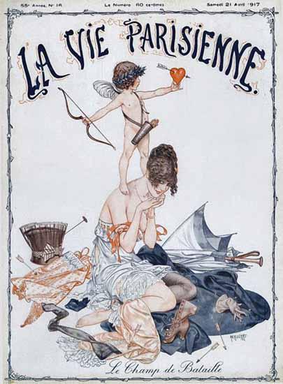 La Vie Parisienne 1917 Le Champ De Bataille Cheri Herouard | La Vie Parisienne Erotic Magazine Covers 1910-1939