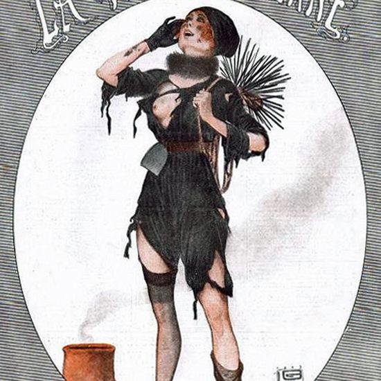 La Vie Parisienne 1917 Le Chasseur D Hirondelles Georges Leonnec crop   Best of Vintage Cover Art 1900-1970