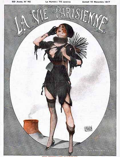 La Vie Parisienne 1917 Le Chasseur D Hirondelles Georges Leonnec   La Vie Parisienne Erotic Magazine Covers 1910-1939