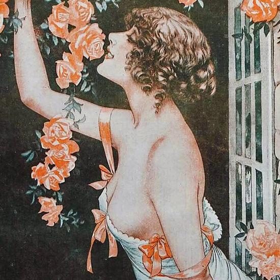 La Vie Parisienne 1917 Le Mois Des Roses Cheri Herouard crop B | Best of Vintage Cover Art 1900-1970