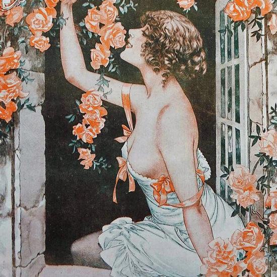 La Vie Parisienne 1917 Le Mois Des Roses Cheri Herouard crop   Best of Vintage Cover Art 1900-1970