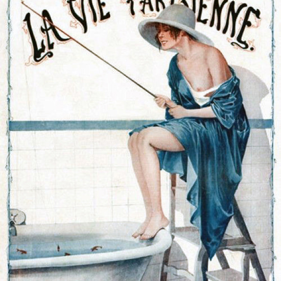 La Vie Parisienne 1917 Le Pecheur Georges Leonnec crop | Best of Vintage Cover Art 1900-1970