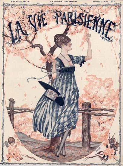 La Vie Parisienne 1917 Le Printemps Cheri Herouard | La Vie Parisienne Erotic Magazine Covers 1910-1939