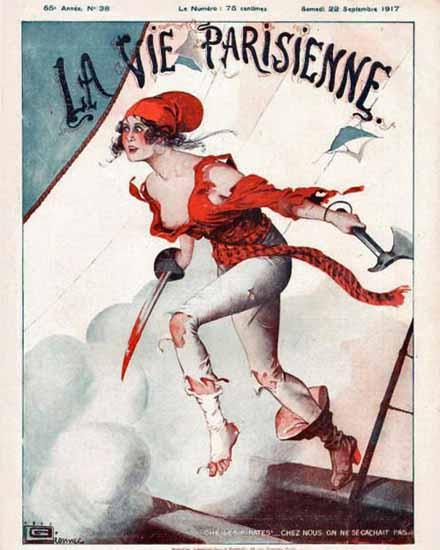 La Vie Parisienne 1917 Les Pirates Georges Leonnec | La Vie Parisienne Erotic Magazine Covers 1910-1939