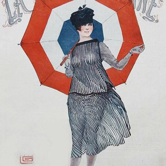 La Vie Parisienne 1917 Un En-Tout-Cas De Saison Georges Leonnec crop | Best of Vintage Cover Art 1900-1970