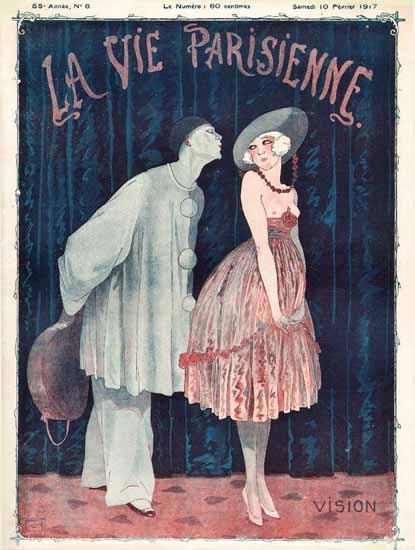 La Vie Parisienne 1917 Vision Georges Leonnec | La Vie Parisienne Erotic Magazine Covers 1910-1939