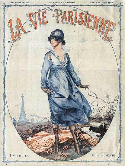 La Vie Parisienne 1918 Eiffel Tower Lvtetia | Sex Appeal Vintage Ads and Covers 1891-1970