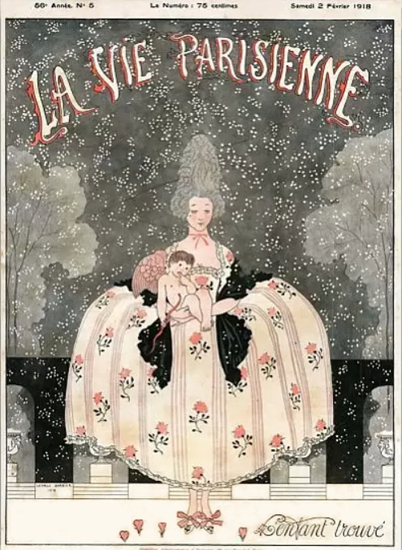 La Vie Parisienne 1918 Enfant Trouve | La Vie Parisienne Erotic Magazine Covers 1910-1939