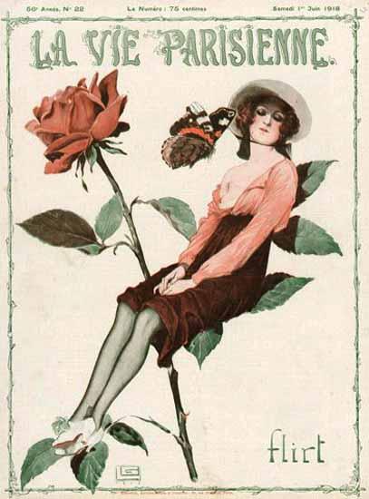 La Vie Parisienne 1918 Flirt Georges Leonnec   La Vie Parisienne Erotic Magazine Covers 1910-1939