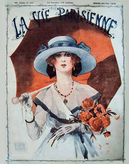 La Vie Parisienne 1918 Juin 29 Georges Leonnec | La Vie Parisienne Erotic Magazine Covers 1910-1939