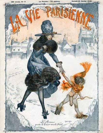 La Vie Parisienne 1918 L Amour Cheri Herouard | La Vie Parisienne Erotic Magazine Covers 1910-1939