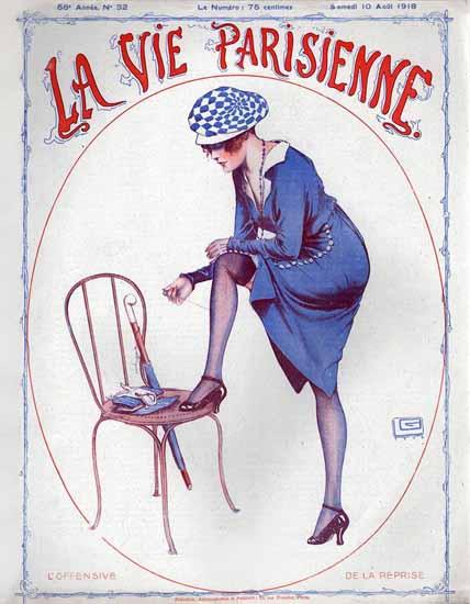 La Vie Parisienne 1918 L Offensive Georges Leonnec | La Vie Parisienne Erotic Magazine Covers 1910-1939