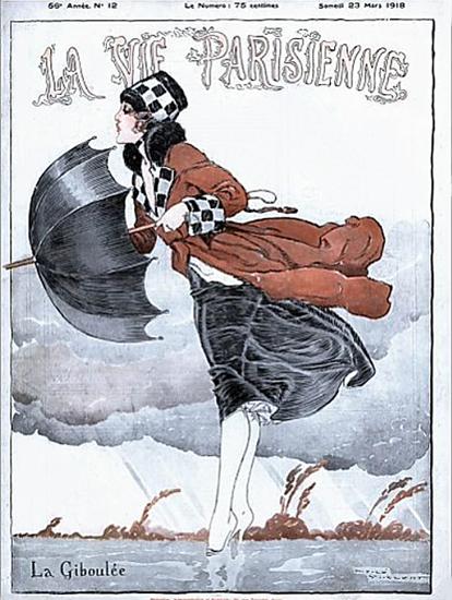 La Vie Parisienne 1918 La Giboulee Rene Vincent   La Vie Parisienne Erotic Magazine Covers 1910-1939