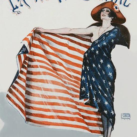 La Vie Parisienne 1918 La Mode De 1918 Georges Leonnec crop | Best of Vintage Cover Art 1900-1970