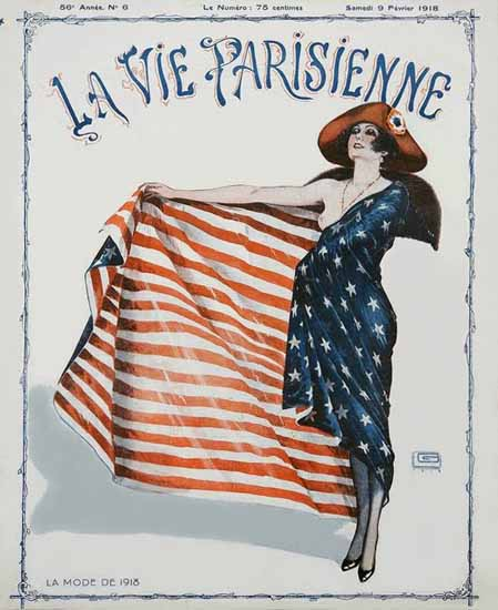 La Vie Parisienne 1918 La Mode De 1918 Georges Leonnec | La Vie Parisienne Erotic Magazine Covers 1910-1939