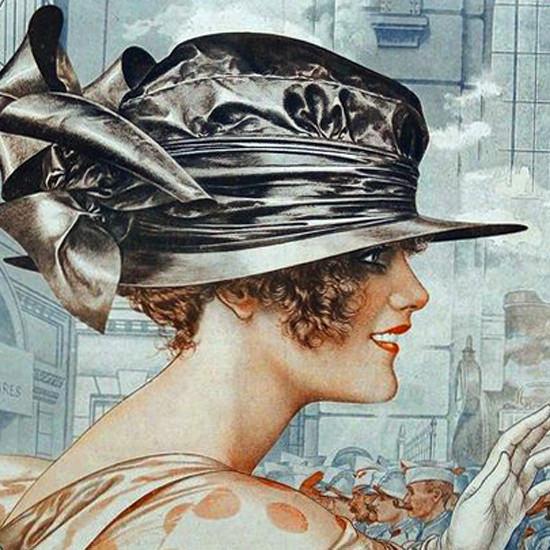 La Vie Parisienne 1918 La Premiere Minute Cheri Herouard crop | Best of Vintage Cover Art 1900-1970